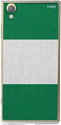 Capa Personalizada para Xperia XA1 Plus - Bandeira Nigéria, Husky, Proteção Completa (Carcaça+Tela), Colorido