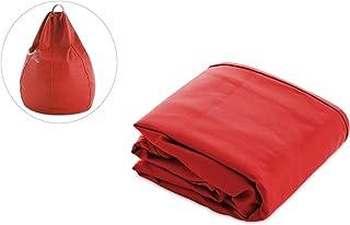 textil-home Puf - Pera moldeable VACIO XXL Puff (NO Incluye Relleno)- 90x90x135 cm- Color Rojo. Tejido Polipiel Alta Resistencia - Doble repunte -300 litros APROXIMADO.