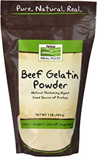 NOW Foods, Beef Gelatin Powder, Natural Thickening Agent, Source of Protein, 1-Pound