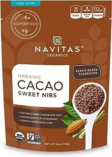 Navitas Organics Cacao Sweet Nibs, 4 oz. Bag — Organic, Non-GMO, Gluten-Free