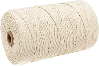 DFSM 1 PCS 3mm X 200m Wall Hanging Dream Catcher Cotton Yarn Macrame Rice White Cord Practical DIY Handmade Home Decorative Supplies (Color : Rice white)