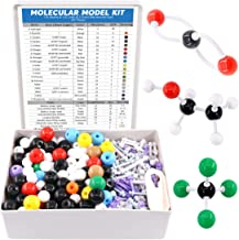 Swpeet 267 Pcs Organic Chemistry Molecular Model Student and Teacher Kit, Chemistry Molecular Model Student and Teacher Set - 116 Atoms & 150 Links & 1 Short Link Remover Tool