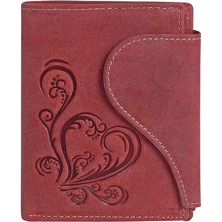 Harrys-Collection Damen Portemonnaie in Vintage mit Herz Special-Edition, Größen:Einheitsgröße, Farben:rot