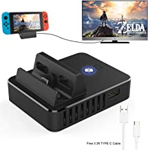$24 » Switch TV Dock, Portable Mini Charging Stand for Nintendo Switch,Compact Switch to HDMI Adapter,Mini Switch Docking Station with Extra USB 3.0 Port, Replacement Charging Dock for Nintendo Switch