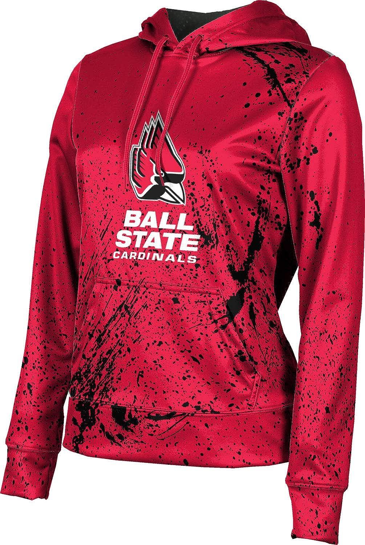 Ball State University Girls' Pullover Hoodie, School Spirit Sweatshirt (Splatter)
