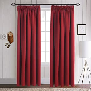 Aquazolax Blackout Curtains Window Draperies - Elegant Window Treatment Thermal Insulated Solid Room Darkening Drapes for Hotel, 2 Panels, 46