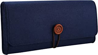 ProCase Nintendo Switch Carrying Case, Portable Travel Carrying Bag Ultra Slim Protective Felt Pouch for Nintendo Switch 2017 with 5 Game Cartridges Holders –Navy