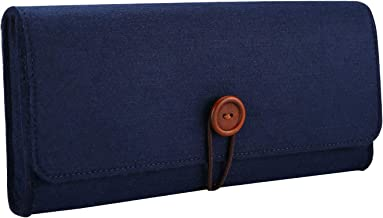 ProCase Carrying Case Compatible with Nintendo Switch, Portable Travel Carrying Bag Ultra Slim Protective Felt Pouch for Nintendo Switch 2017 with 5 Game Cartridges Holders –Navy
