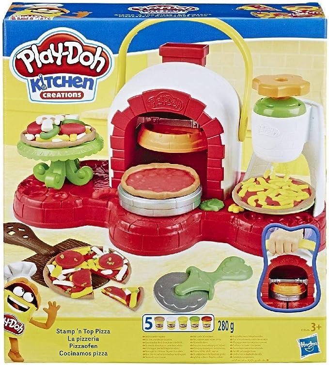 2816 opinioni per Hasbro Play-Doh- La Pizzeria, Play Set con 5 Vasetti di Pasta da Modellare,