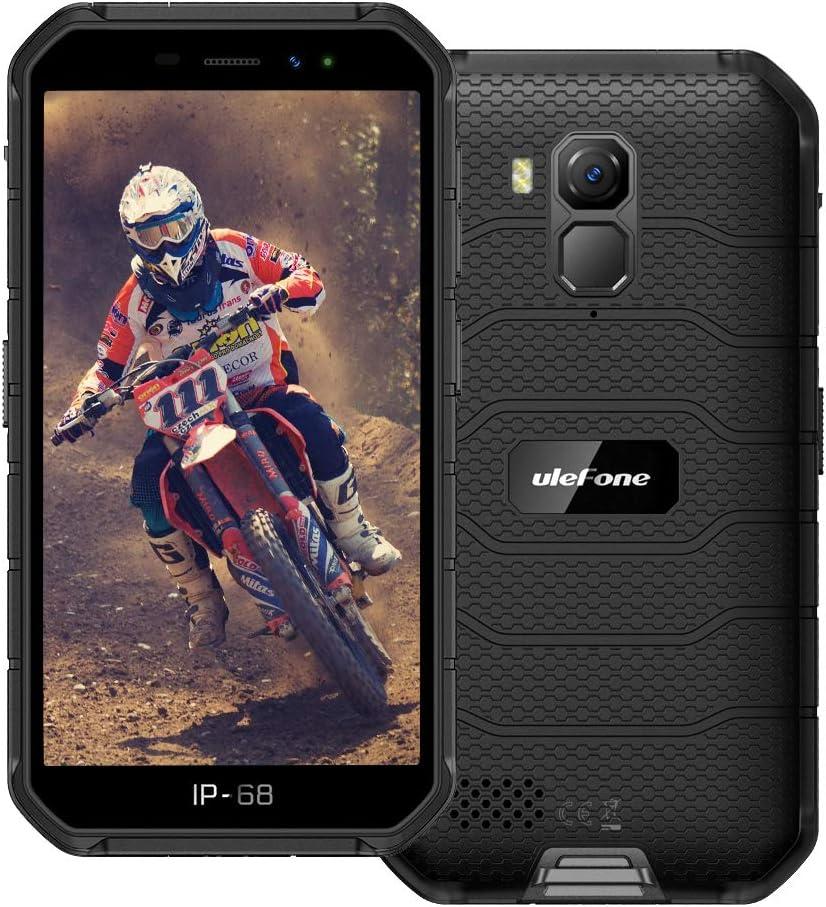 Rugged Smartphone Unlocked Ulefone Armor X7 Pro Android 10 Quad-core 4G+32GB ROM, 13MP+5MP Dual Camera 5.0 inch HD+ Screen 4000mAh Battery Unlocked Rugged Phones, OTG, NFC, Face ID, GPS, WiFi -Black