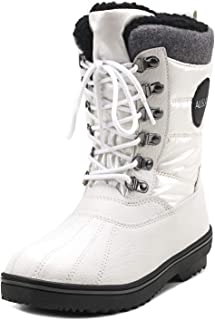 Shenda Women s and Men s Mid-Calf Lace Up Snow Boots Unisex Winter ... 63716e35e9