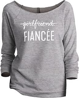 Thread Tank Girlfriend Fiancee Women's Slouchy 3/4 Sleeves Raglan Sweatshirt Sport Grey