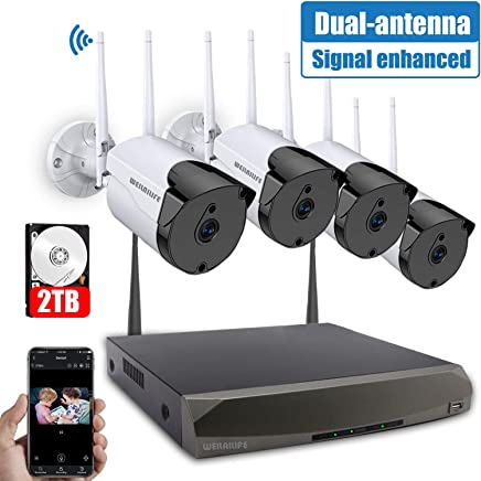 [2019 Signal Enhanced Version] Security Camera System...