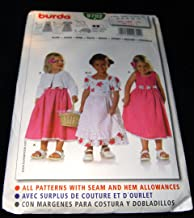 Burda 9702 Girls Dress Pattern - Includes Apron and Jacket- Sizes for 18 Months to 5 Years
