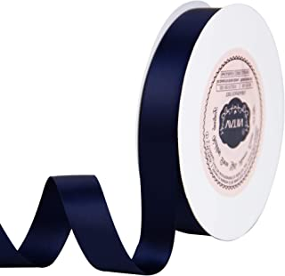 VATIN 5/8 inch Double Faced Polyester Navy Blue Satin Ribbon - 25 Yard Spool, Perfect for Wedding Decor, Wreath, Baby Shower,Gift Package Wrapping and Other Projects