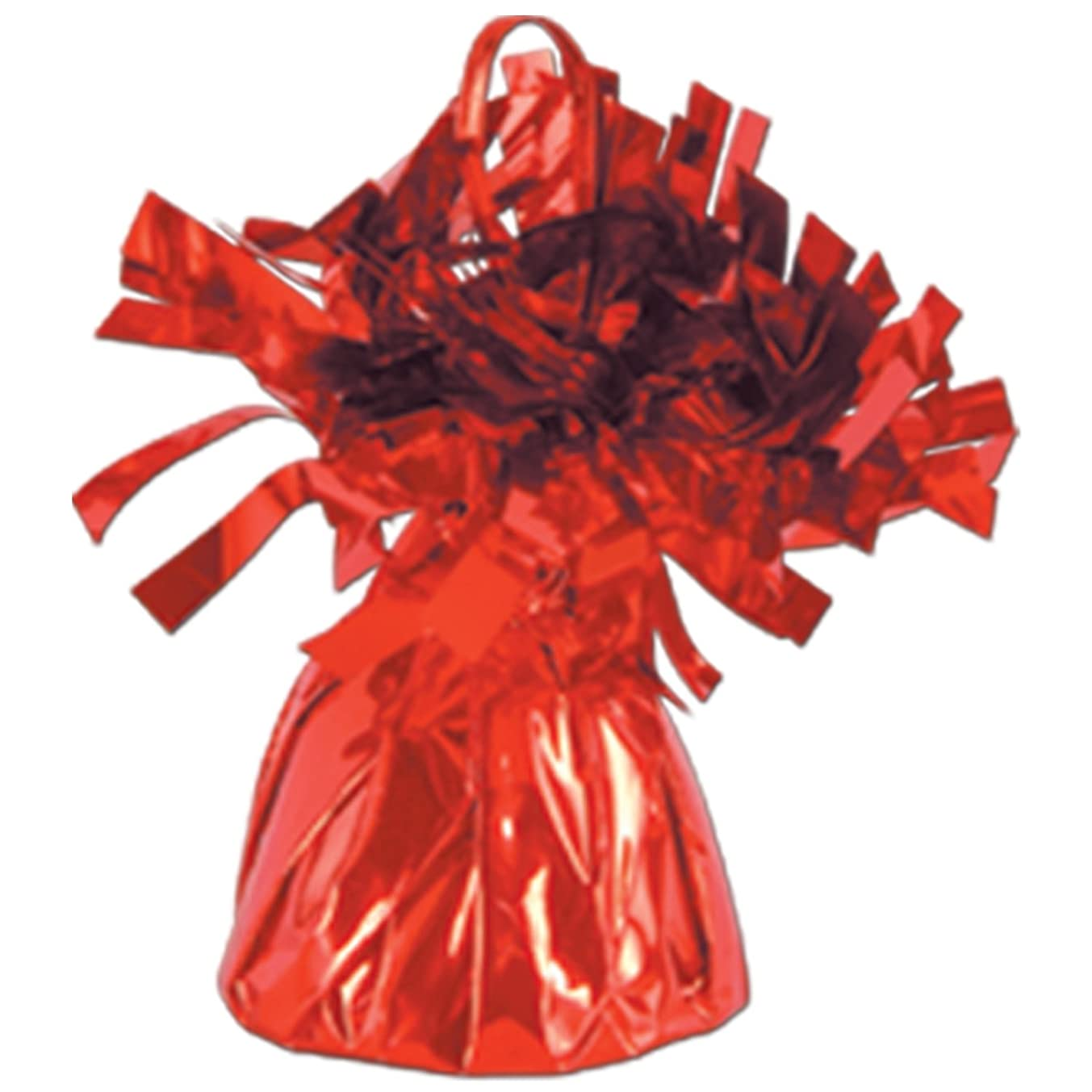 Beistle 50804-R Metallic Wrapped Balloon Weight Party Supplies, Red