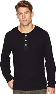 7 For All Mankind Mens Long Sleeve Army Henley