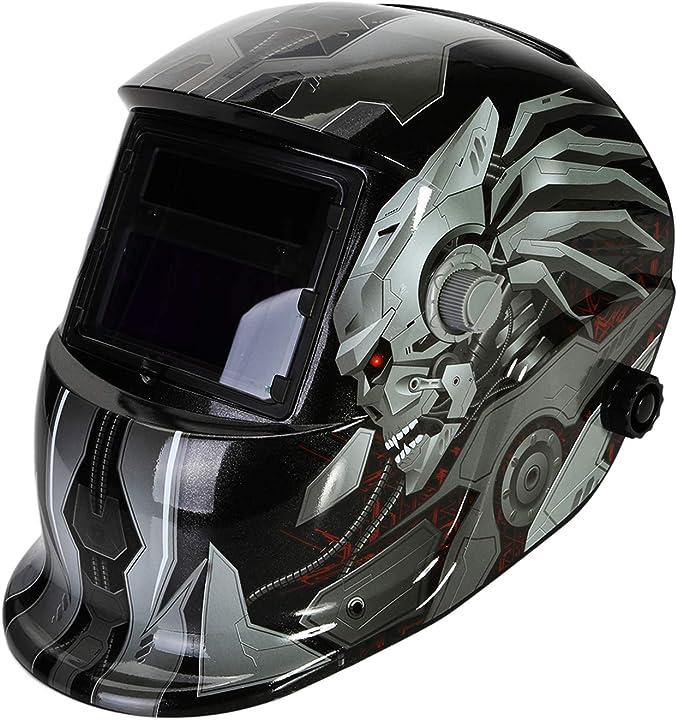 Casco per saldatura con 2 sensori 2 lenti sostituibili maschera saldatrice regolabile - lesoleil WHD-10122uk