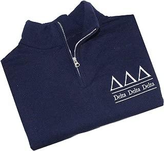 Delta Delta Delta Quarter Zip Pullover
