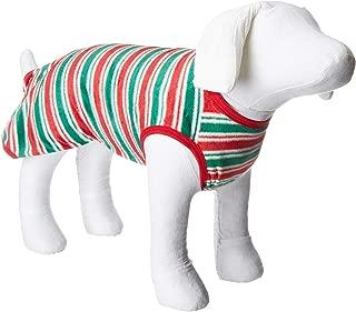 Karen Neuburger Holiday Family Pajama Dog Coat Candy Stripe Ski Patrol LG