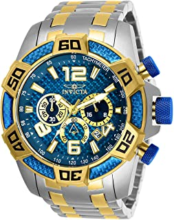 Invicta Men's Pro Diver Quartz Stainless-Steel Strap, Two Tone, Gold,26 Casual Watch