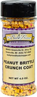 Peanut Brittle Crunch Coat Ice Cream Topping, Bulk Size (4 Ounce Shaker Bottle)