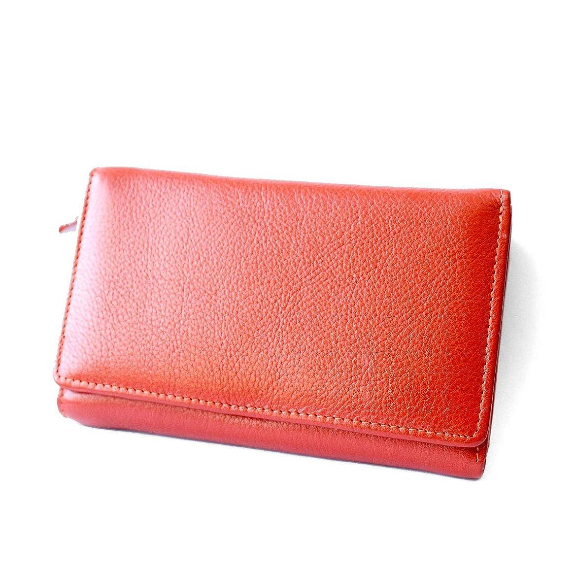 続編用心深い大きい3つ折り財布 レザーウォレット メンズ レディース ユニセックス 本革 シュリンクレザー ミドルサイズ 大容量カードケース 小銭入れあり