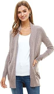 Alexander + David Womens Basic Open Front Fall Cardigan - Lightweight Soft Knit Sweater with Pockets