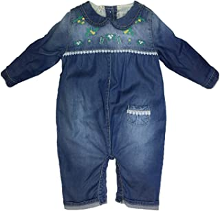 Kidscool Space Newborn Baby Easy Diaper Changing Back Cardigan Soft Jeans Overalls