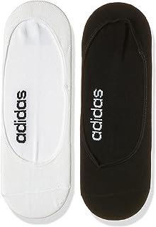 adidas Unisex Colorblock Liner Socks 2 Pairs, Black (Black/White)