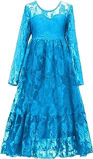 Flower Girls Dresses Bridesmaid Wedding Pageant Party Princess Communion Floral Boho Vintage Lace Dance Gown