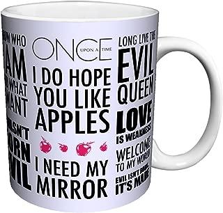 Once Upon a Time Evil Queen Regina Quotes Fantasy Drama Fairy Tale TV Television Show Ceramic Gift Coffee (Tea, Cocoa) 11 Oz. Mug