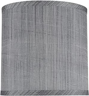 Aspen Creative 31017 Transitional Hardback Drum (Cylinder) Shape Spider Construction Lamp Shade in Grey & Black, 8