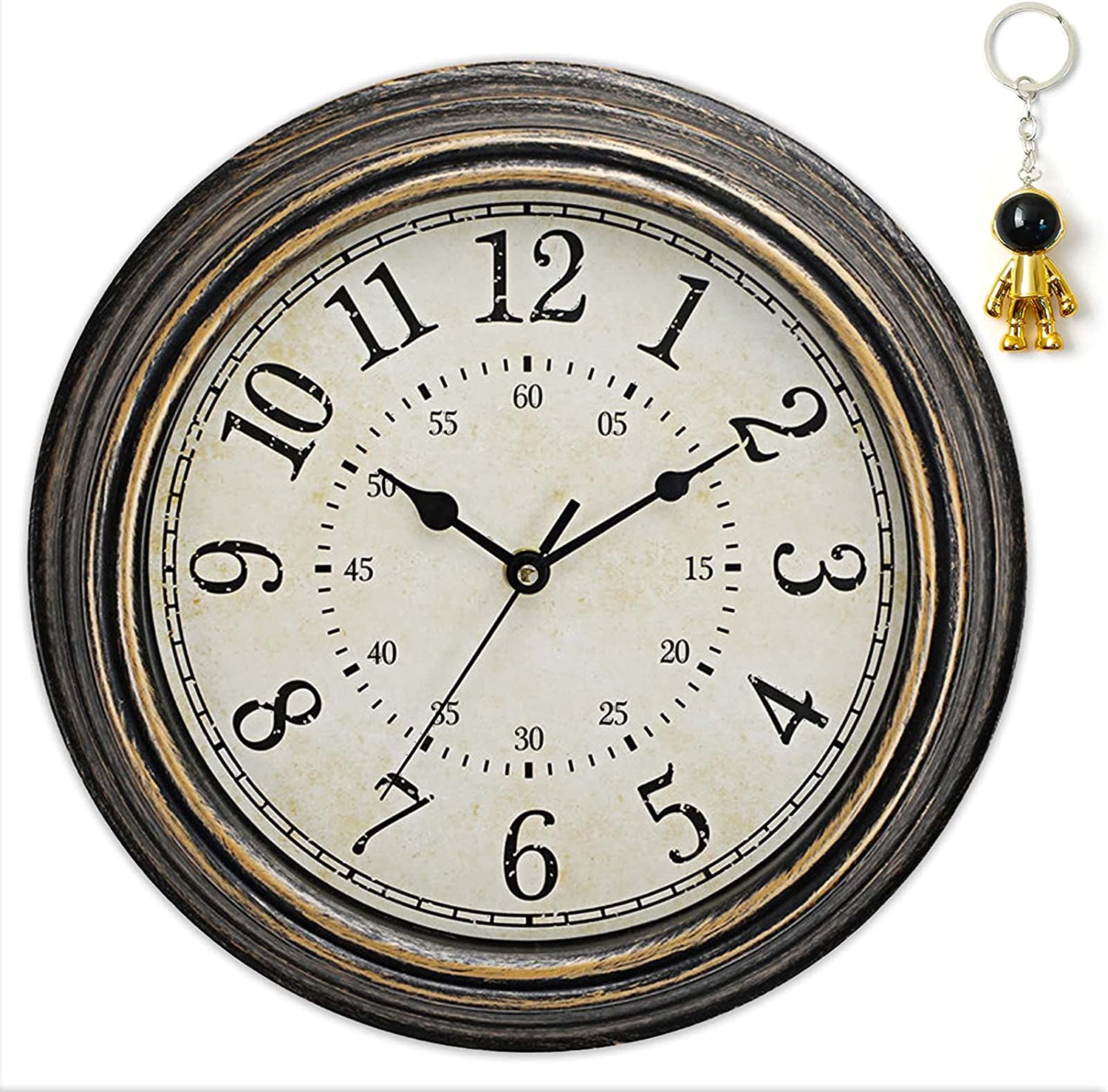 Rustic Wall Clock Battery 11.81-Inch Operated Directly managed store Mounted In stock