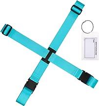 Gonex Luggage Strap Luggage Tag Holder Travel Set, Adjustable Suitcase Belt, ID Card Holder for Women Men, Blue 1 Set