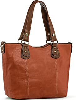 UTAKE Handbags for Women Tote Shoulder Bags PU Leather Top Handle Purse Medium Size