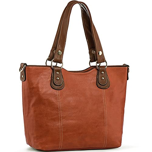 UTAKE Handbags for Women Tote Shoulder Bags PU Leather Top Handle Purse  Medium Size 93bf608435b11