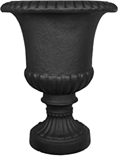 Tusco Products Outdoor Urn, 22-Inch, Black