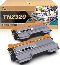 TN-2320 Compatible Brother Tóner Negro, 7Magic TN-2320 Cartucho de Tóner Para Brother MFC-L2700DW MFC-L2740DW MFC-L2720DW HL-L2300D HL-L2340DW DCP-L2520DW DCP-L2500D Impresora(2 Negro)