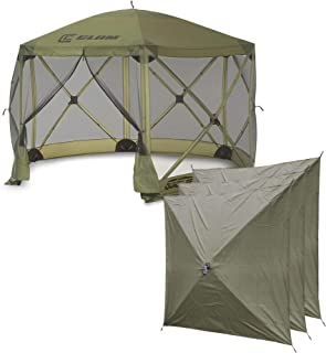 QUICK-SET Clam Escape Portable Camping Outdoor Canopy Screen + 3 Wind Panels