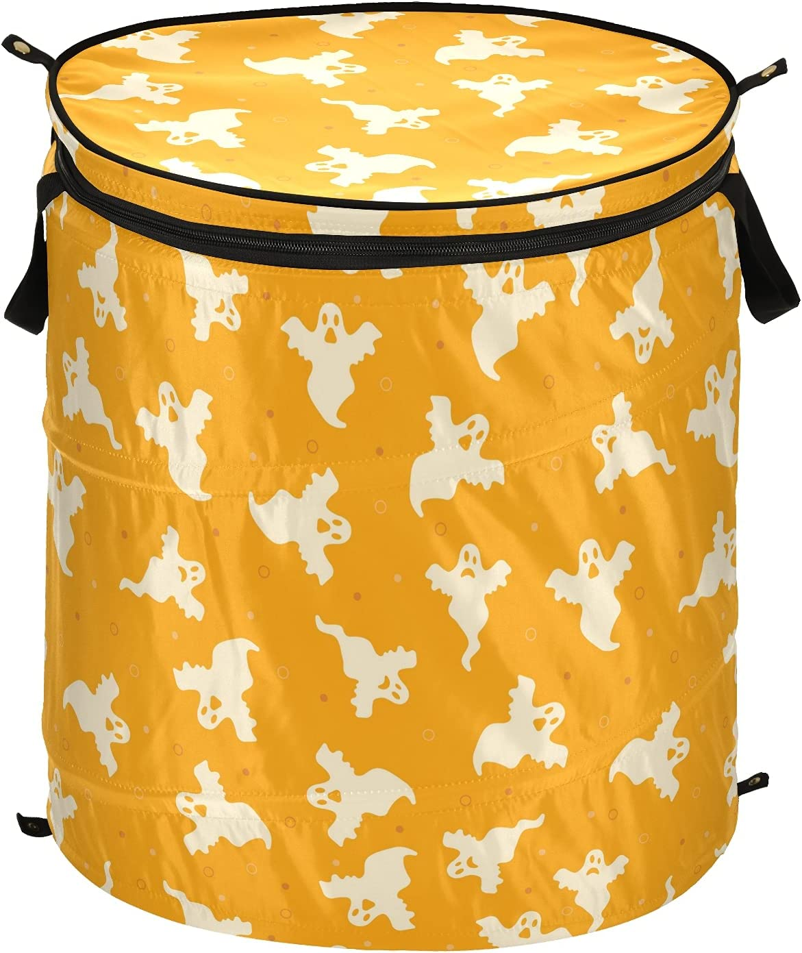 Ghost Seattle Mall Skull Happy Halloween Pop Up Laundry Hamper Folda Lid with 70% OFF Outlet