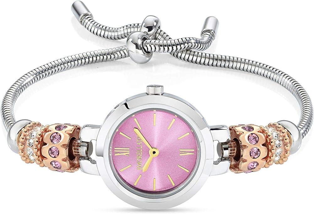 Morellato drops,orologio  da donna, analogico, al quarzo, in acciaio inossidabile R0153122550