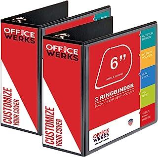 "Sponsored Ad - 3 Ring Binder, Professional D Ring ""6 - Inch Binder"", Presentation Folder 8.5 x 11 with Pockets, Durable, N..."