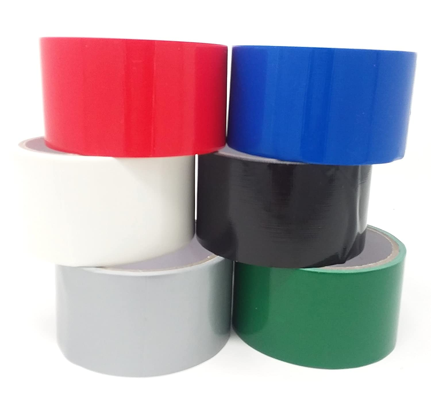 24 Rolls of Creative Assorted Safety and trust 67% OFF fixed price Colored Duct RED White Blue Tape