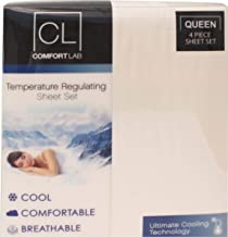 Posh Home Comfort Lab Temperature Regulating Ultimate Cooling Technology Luxurious All Year Round Cool Comfortable Breathable 4 Piece Sheet Set (Queen, Ivory)