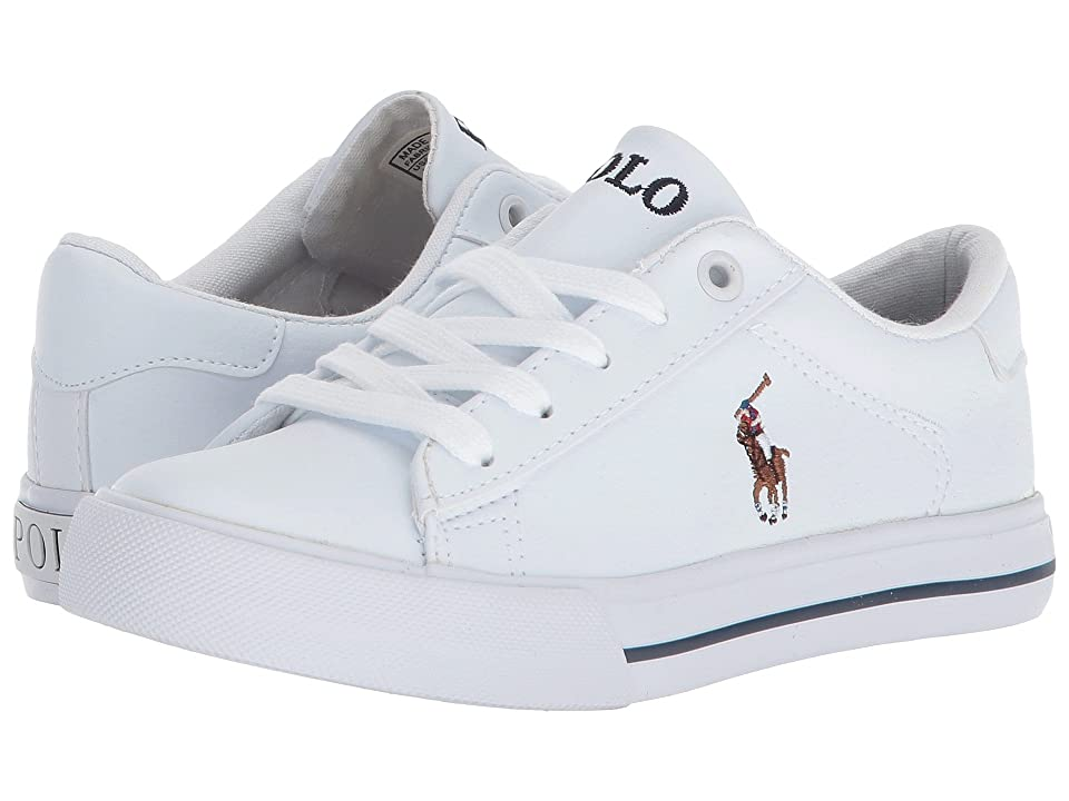 Polo Ralph Lauren Kids Easten (Little Kid) (White Tumbled/Multi Pony Player) Kid