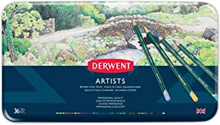 Derwent Artists Colored Pencils, 4mm Core, Metal Tin, 36 Count (32096)