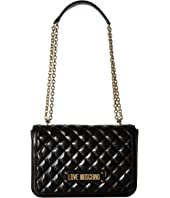 LOVE Moschino - Shinny Quilted Handbag with Chain Strap