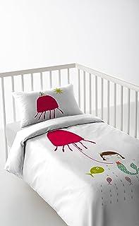 Haciendo el Indio Little Mermaid - Funda nórdica + funda de almohada + sábana bajera (Cuna 60cm)