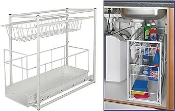 Under Sink Storage Rack Kitchen Unit Bathroom Cupboard Tidy 2 Tier Organiser by TP-Products